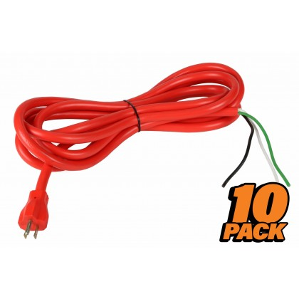 Toledo Pipe 46740 Power Cord 14 Gauge Wire fits RIDGID® 300 535 1224 Pipe Threading Machine - QTY 10